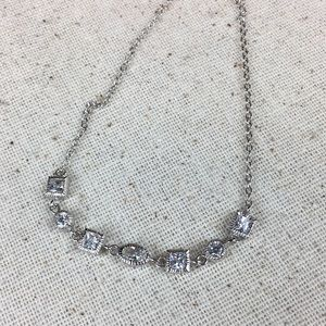 CZ Diamond Sterling Silver Necklace